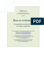 Michel Leiris, Race et Civilisation