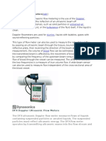 Doppler Shift Flow Meters
