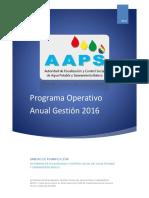 AAPS Programa de Operaciones Anual Gestión 2016