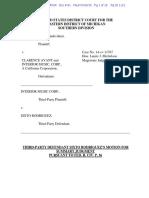 Sixto Rodriguez Motion for Summary Judgment