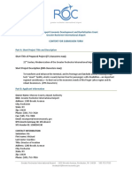 Airport economic development grant form