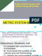 metric system lesson