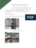 Plan de Control de Calidad en La Ejecución de Las Obra1