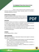 Maestria en Administracion Educativa-ulasalle Cr 2014