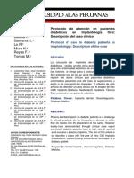 Protocolo de Atención en Pacientes Diabéticos en Implantología