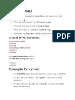 HTML w3 Schools