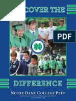 2016-2017 Notre Dame College Prep Viewbook