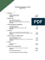 Resumen Global de Costos