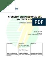 Atención en Salud Oral Del Paciente Hemofílico