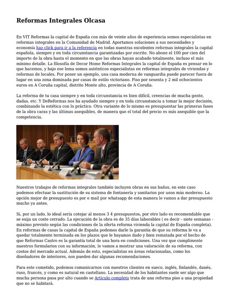 Presupuesto reforma integral casa best reformas en su bao for Presupuesto reforma casa
