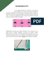 Vocabulario Ballet
