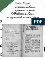 O Corporema Da Casa Portuguesa, Ou Repensar O Problema Da Casa Portuguesa de Fernando Távora