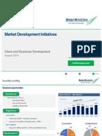 Market Development Initiatives Presentation - August 2016