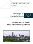 NY State Comptroller's Report on Student Vaccinations
