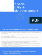 Corporate Social Responsibility & Sustainable Development