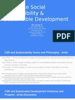 Corporate Social Responsibility & Sustainable Development