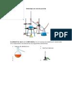 Montaje de Destilación