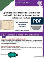 1. Ing. Dai Bellido - Optimización de Molienda Clasificación en funcion de nivel de llenado, función selección y fractura.pdf