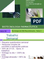 Aula 04 - Tecnologia Do DNA Recombinante 2