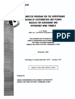 A Computer Program for the Aerodynamic Design of Axisymmetric and Planar Nozzles for Supersonic and Hypersonic Wind Tunnels