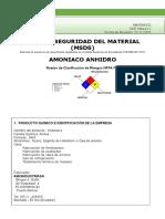 MSDS AMONIACO