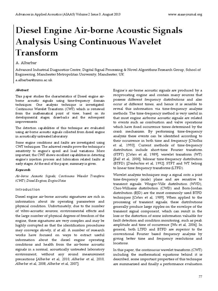 Wavelet algorithms for non-destructive testing