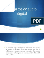 Formatos de Audio Digital Variables o Constantes