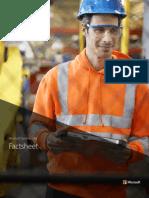 Microsoft Manufacturing Factsheet