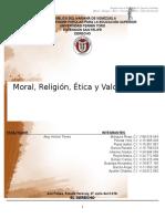 Informe Introduccion Al Derecho Etica Moral y Religion