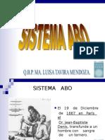 Sistema Abo de SISTEMA ABO DE TIPIFICACION SANGUINEA