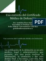 Uso correcto del Certificado Médico de Defunción