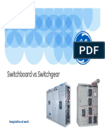 Switchgear vs Switchboard