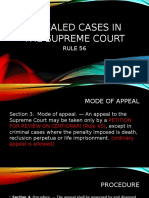 Appealed Cases in the Supreme Court