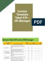 Contoh Tabel KPI HR Manager
