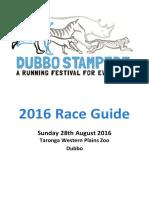 2016 Dubbo Stampede Race Guide