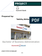 Project on Summit Bank