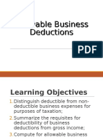 Allowable Business Deductions
