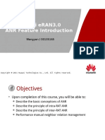Understand of Basic Feature ENodeB Huawei - ERAN3.0 ANR Feature Introduction
