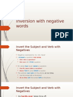 Inversion With Negative Words