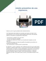 Mantenimiento Preventivo de Una Impresora