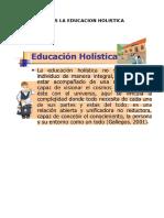 Que Es La Educacion Holistica