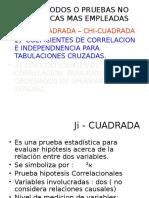METODOS O PRUEBAS NO PARAMETRICAS MAS EMPLEADAS.pptx