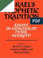 Richard Coggins-Israel's Prophetic Tradition.pdf