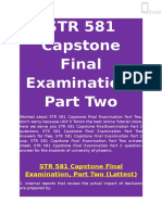 STR 581 Capstone Final Examination, Part Two | STR 581 answers - UOP E Tutors