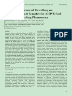 Study on Influence of Rewetting on Conduction Heat Transfer for AHWR Fuel Bundle Re-flooding Phenomena