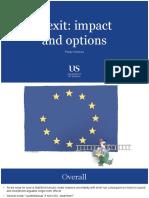 Economics Research - Impact of Brexit on UK Economy