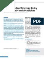 De Novo Acute Heart Failure and Acutely Decompensated Chronic Heart Failure