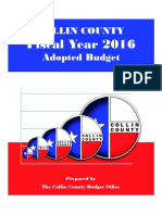 FY 2016 adopted budget book CCAD