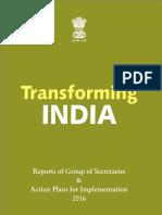 Transforming India Book 2016