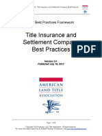 Title and Settlement Company BestPractices v 2.0